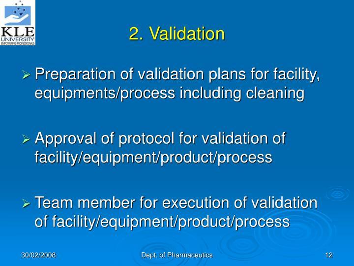 2. Validation