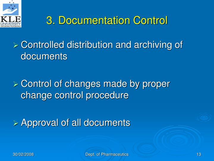 3. Documentation Control