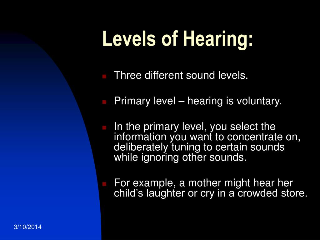 Levels of Hearing: