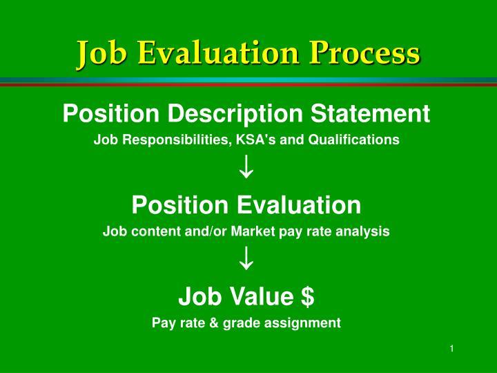 ppt - job evaluation process powerpoint presentation
