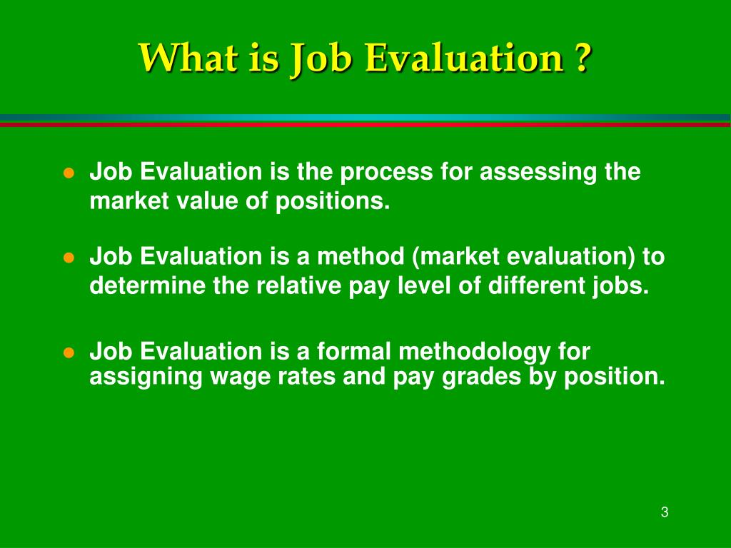 the job evaluation process