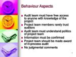 behaviour aspects