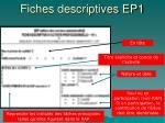 fiches descriptives ep14