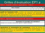 grilles d valuation ep1 a17
