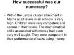 how successful was our numeracy
