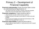 primary 2 development of financial capability
