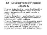 s1 development of financial capability