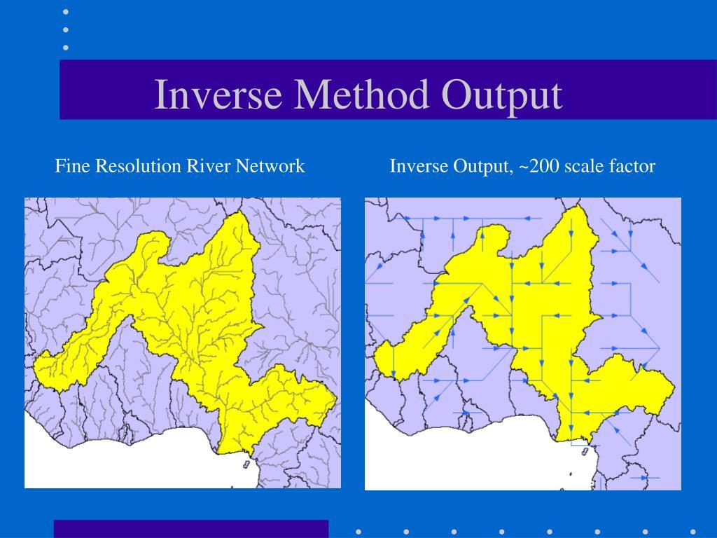 Inverse Method Output