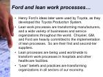 ford and lean work processes