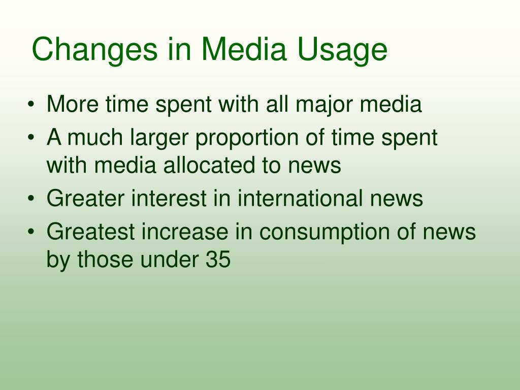 Changes in Media Usage