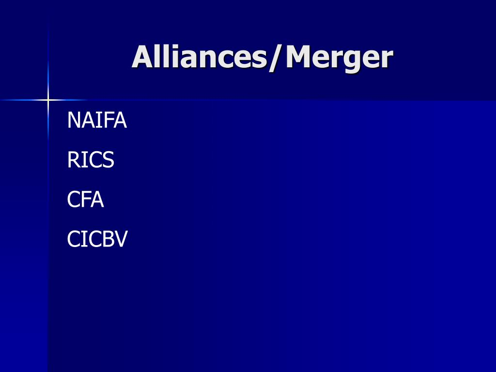 Alliances/Merger