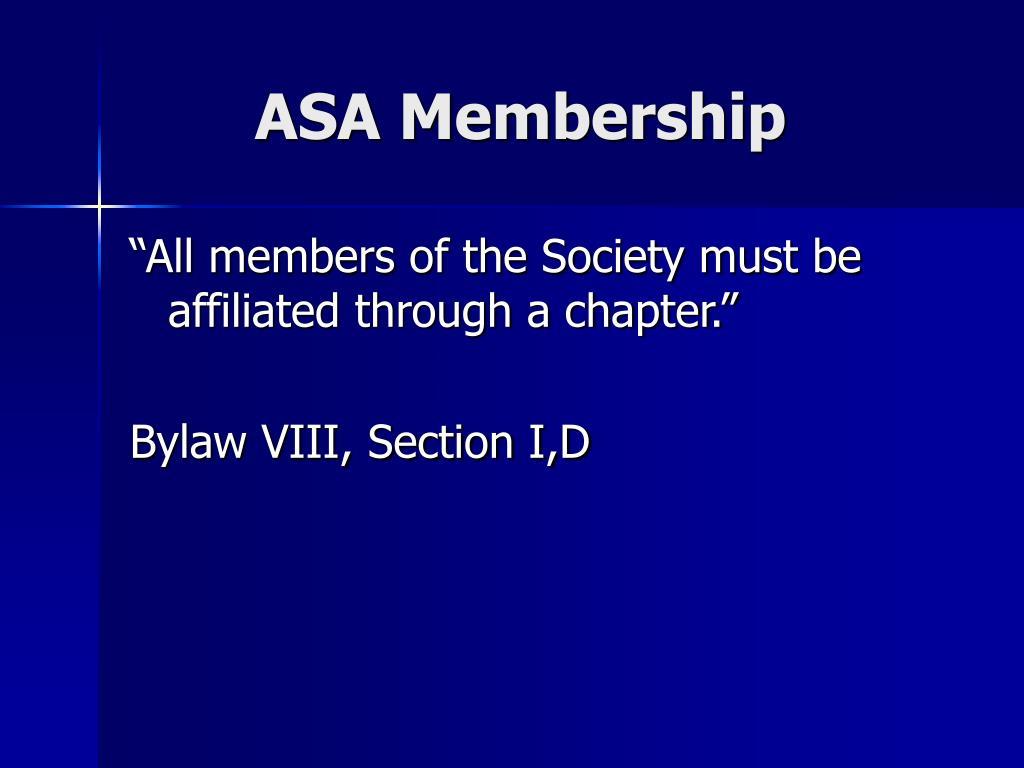 ASA Membership