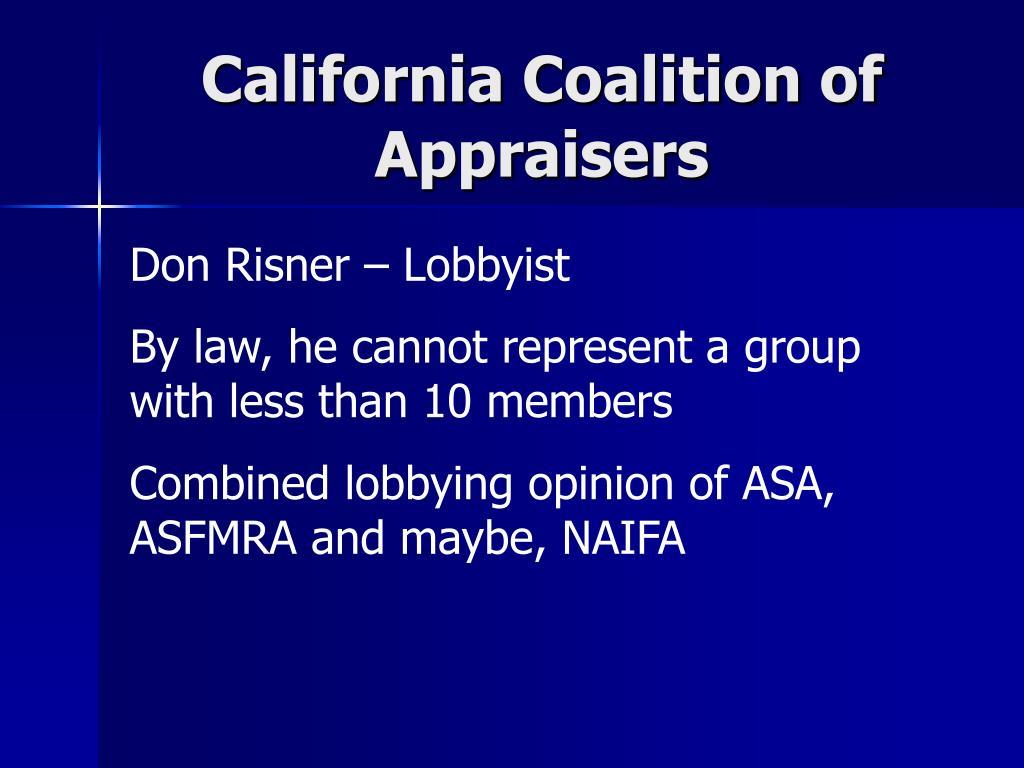 California Coalition of Appraisers