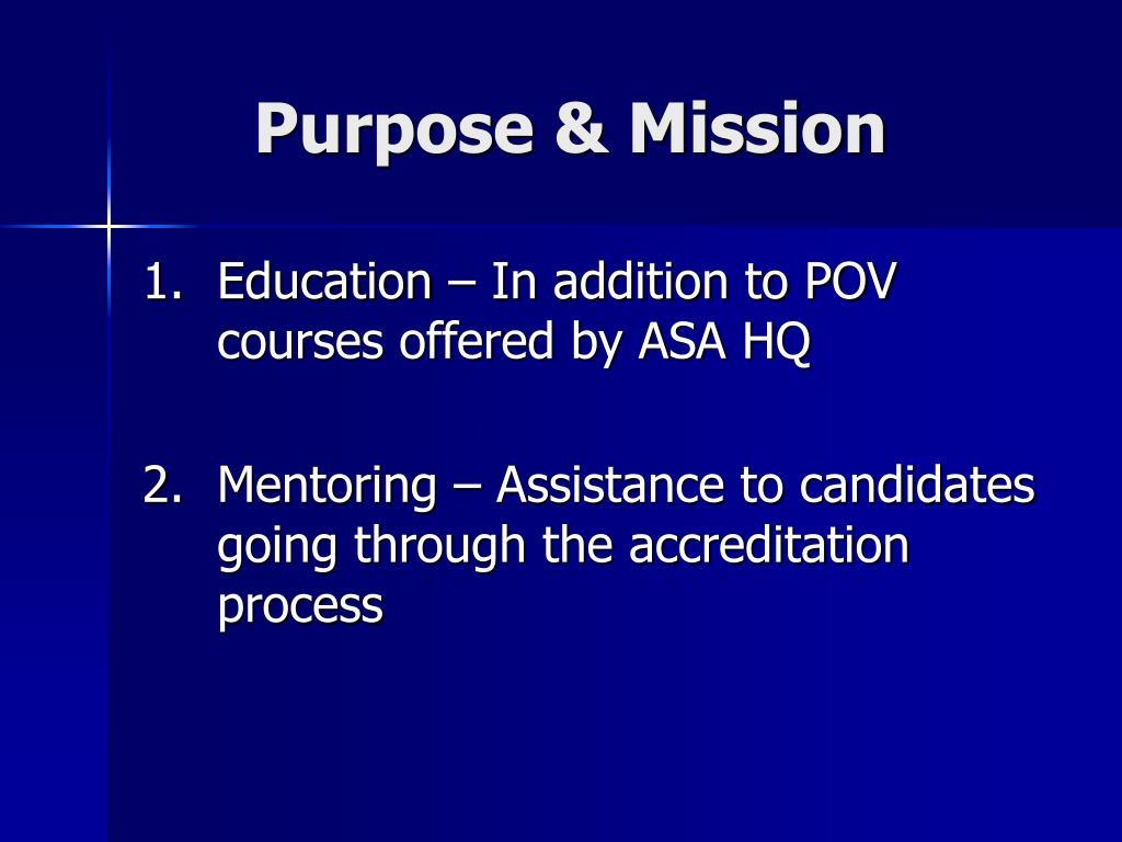 Purpose & Mission
