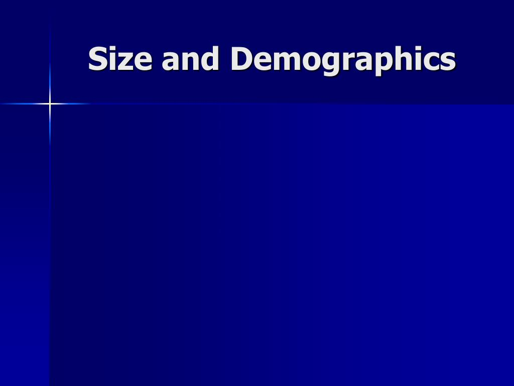 Size and Demographics