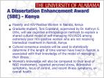 a dissertation enhancement award sbe kenya