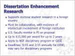 dissertation enhancement research