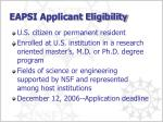 eapsi applicant eligibility
