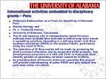 international activities embedded in disciplinary grants peru