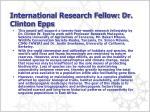 international research fellow dr clinton epps