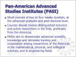pan american advanced studies institutes pasi