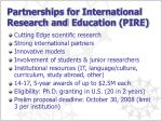 partnerships for international research and education pire