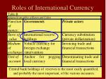 roles of international currency