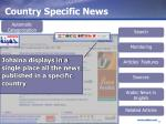 country specific news