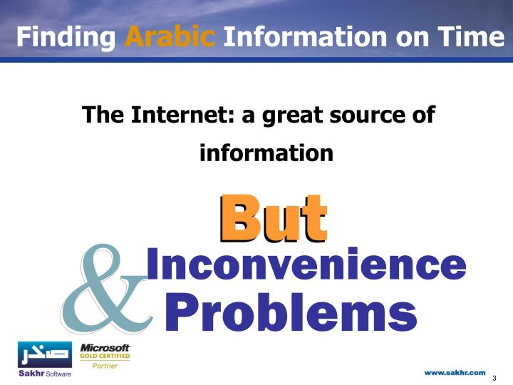Finding arabic information on time