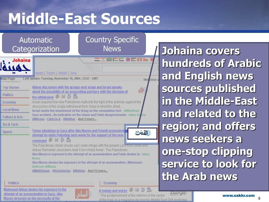 Middle-East Sources