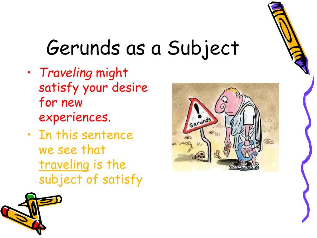 Gerunds as a Subject