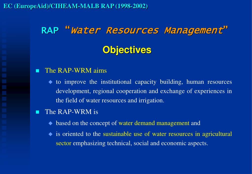 EC (EuropeAid)/CIHEAM-MAI.B RAP (1998-2002)