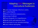 adapting oral messages to intercultural audiences