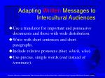 adapting written messages to intercultural audiences