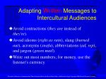 adapting written messages to intercultural audiences25