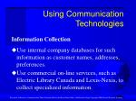 using communication technologies31