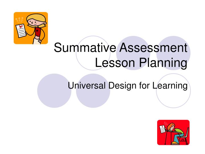summative assessment lesson planning n.