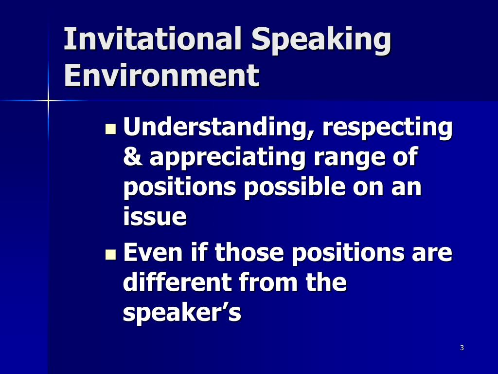 Invitational Speaking