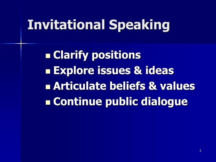 Invitational speaking2
