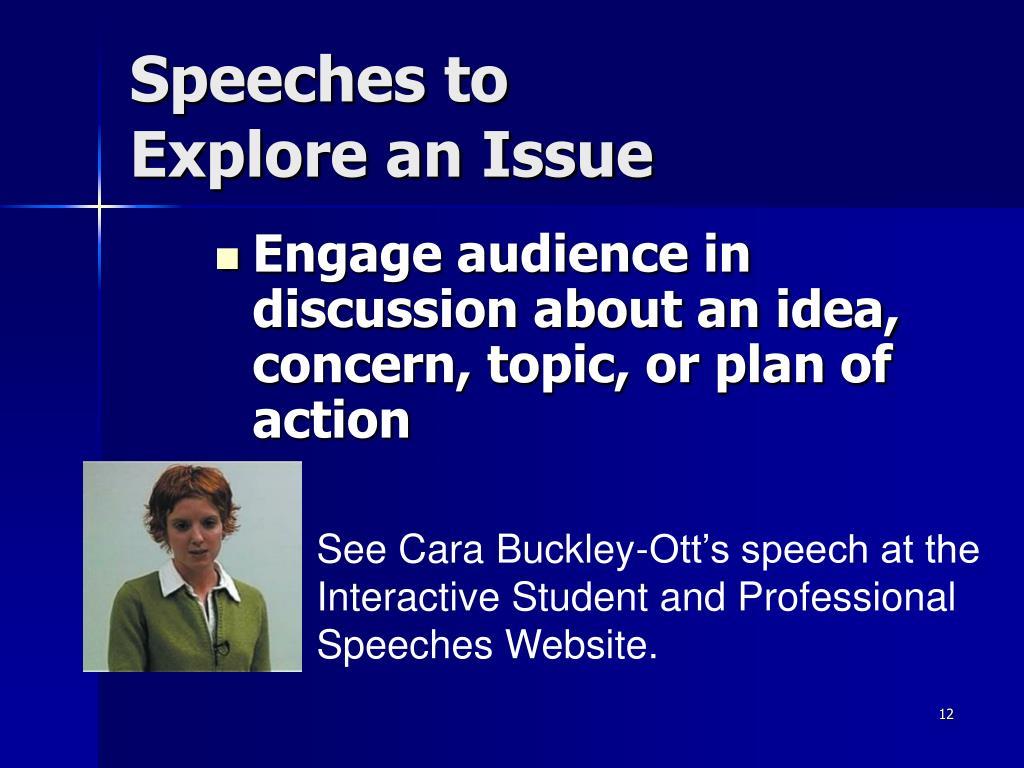 Speeches to