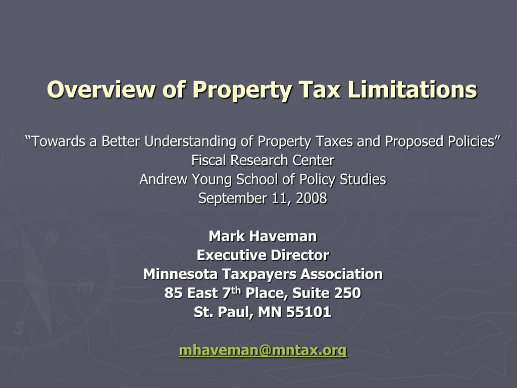 overview of property tax limitations l.