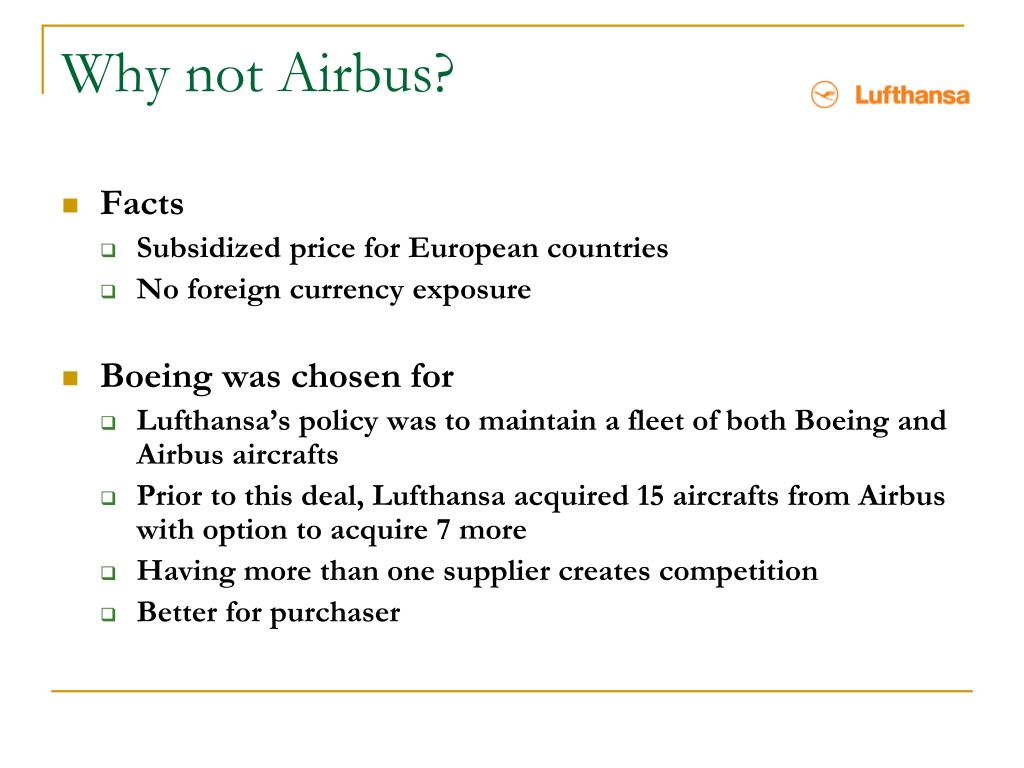 Why not Airbus?