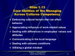 slide 1 13 core abilities of the managing across cultures competency
