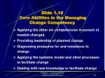slide 1 18 core abilities in the managing change competency
