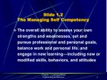 slide 1 2 the managing self competency