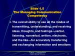 slide 1 5 the managing communication competency