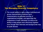 slide 1 7 the managing diversity competency