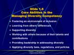 slide 1 8 core abilities in the managing diversity competency