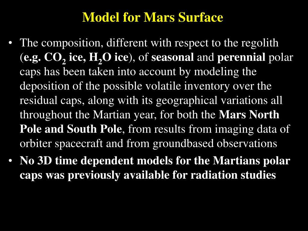 Model for Mars Surface