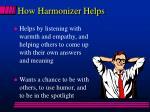 how harmonizer helps